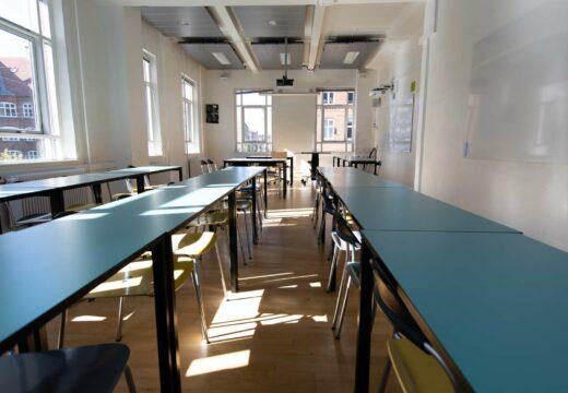 Undervisningslokale på Kronprinsesse Sofies vej 35