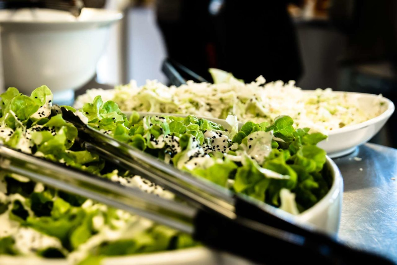 Nærbillede af salat